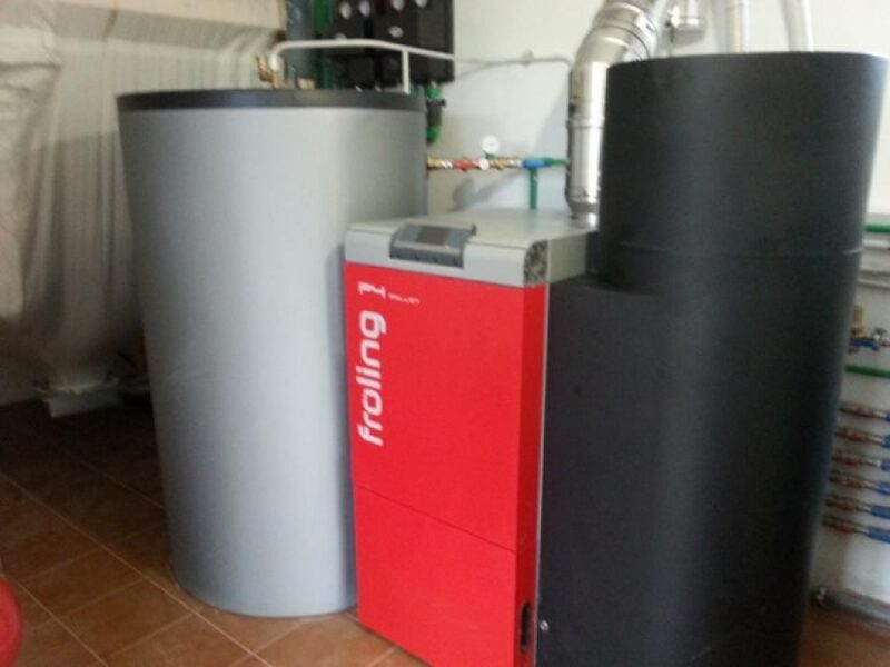 Instalación biomasa vivienda particular
