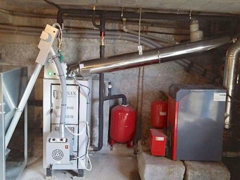 Instalación Biomasa para calefacción