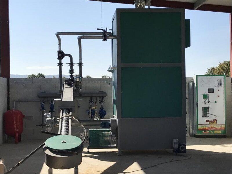 Caldera biomasa para empresa
