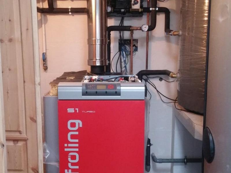 Instalación Leña + ACS con apoyo solar