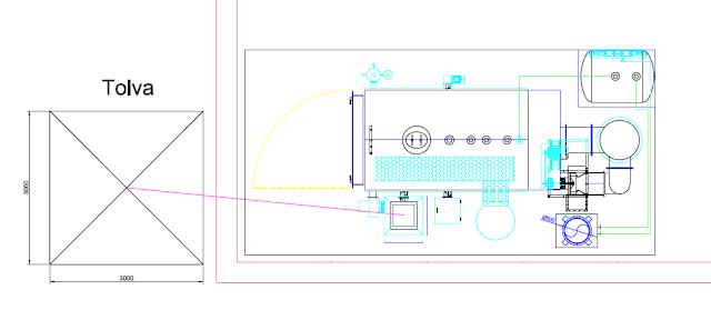 Plano de Caldera de vapor biomasa