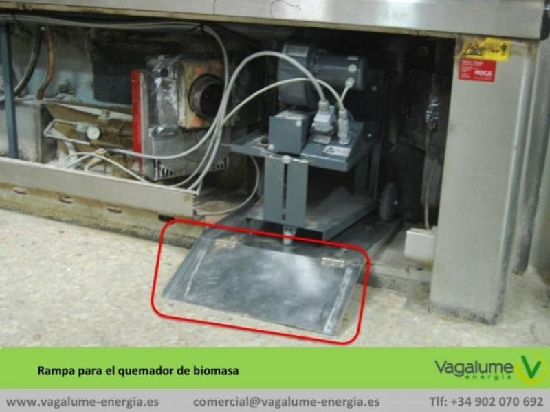 quemador de biomasa industrial