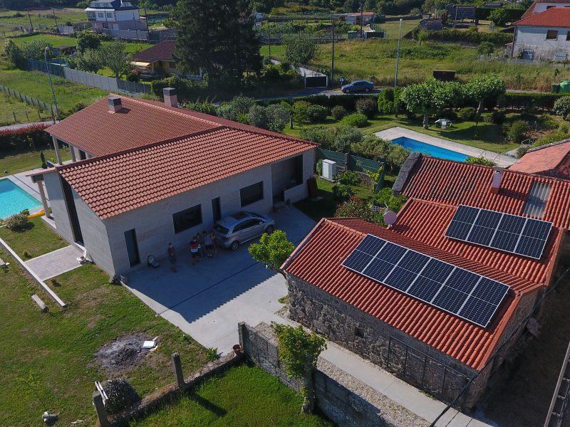 Placa solar vivienda particular
