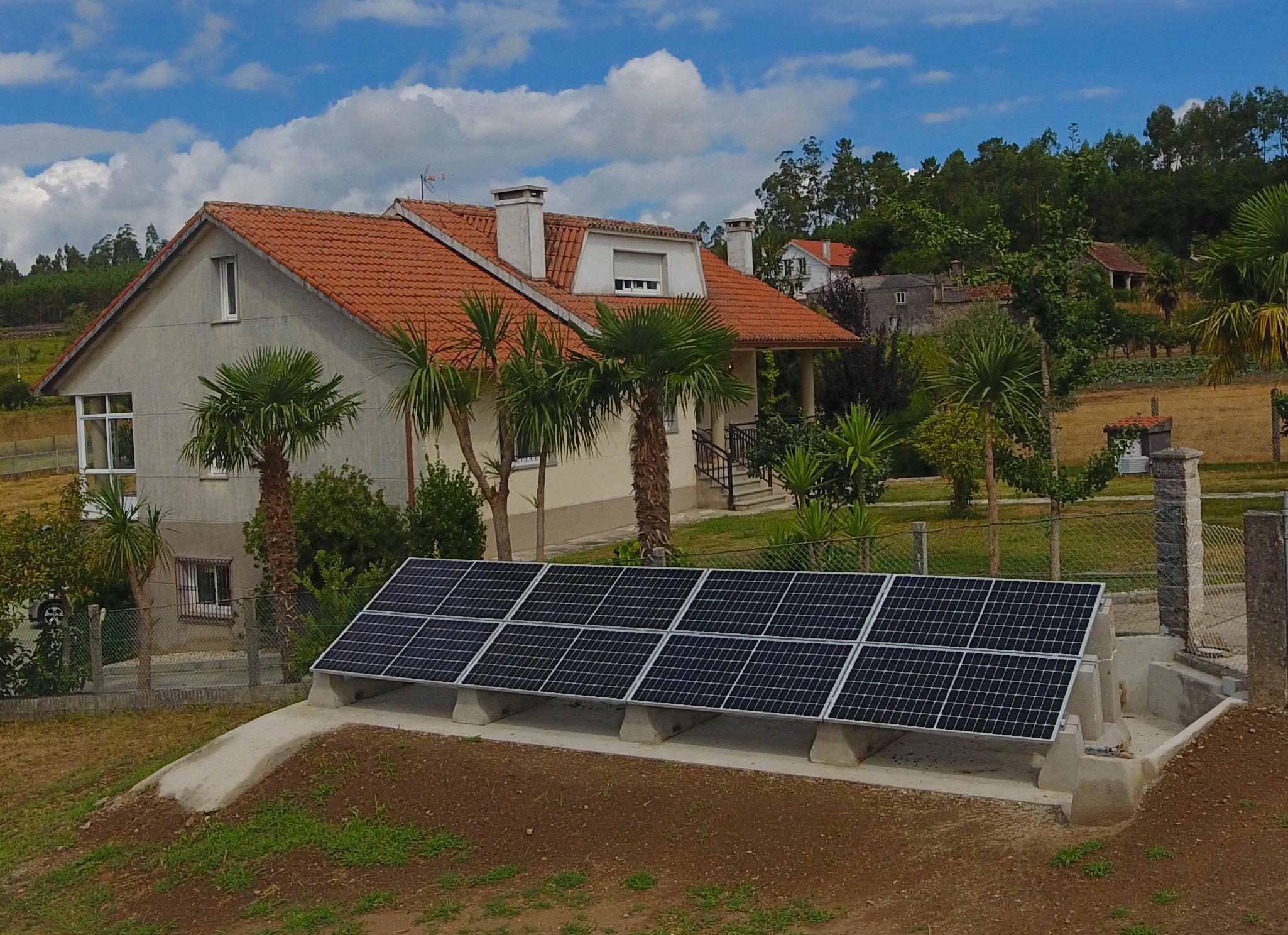 Instalación fotovoltaica vivienda unifamiliar